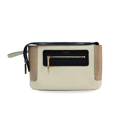 in tricolor clutch bag ivory